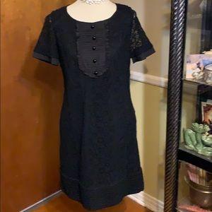 ETCETERA BLACK CROCHETED LACE LOOK DRESS 8